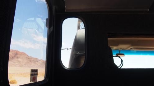 A l'intérieur d'une voiture